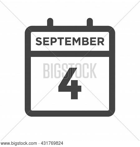 September 4 Calendar Day Or Calender Date For Deadline And Appointment
