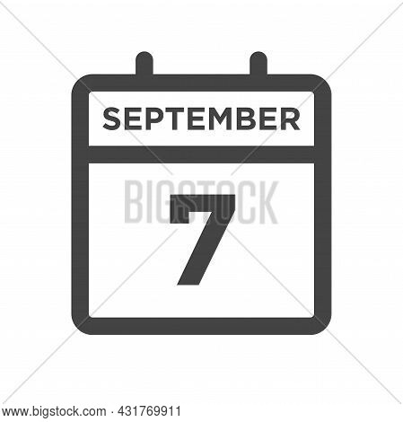 September 7 Calendar Day Or Calender Date For Deadline And Appointment