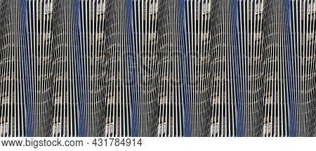 Abstract Geometric Image Of Stripes In Gray Colors. Geometric Figures. Abstraction Wave. Template Fo