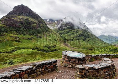 Observation deck in the highlands of Scotland