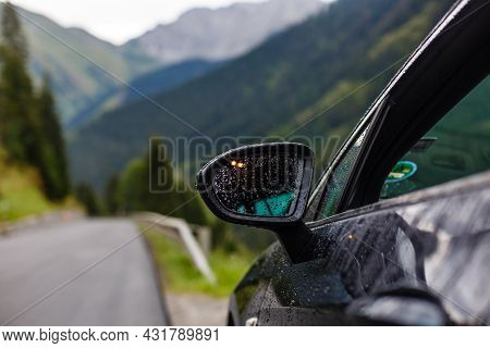 Off-road Travel On Mountain Road. Beautiful Nature