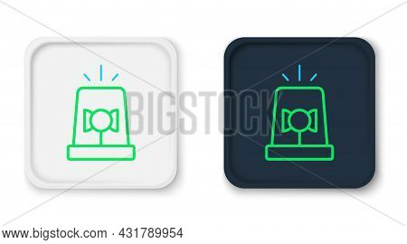 Line Flasher Siren Icon Isolated On White Background. Emergency Flashing Siren. Colorful Outline Con