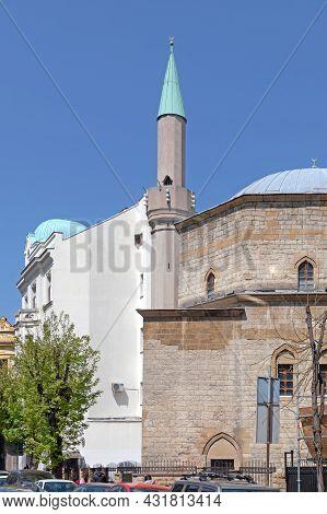 Belgrade, Serbia - April 23, 2021: Old Bajrakli Mosque Building From Ottoman Period.