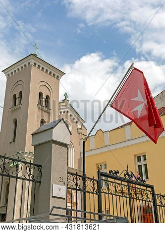 Belgrade, Serbia - May 12, 2021: Embassy Of The Sovereign Military Order Of Malta To The Republic Of
