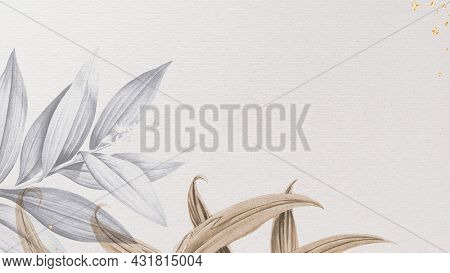 Tropical leafy background and wallpaper illustration