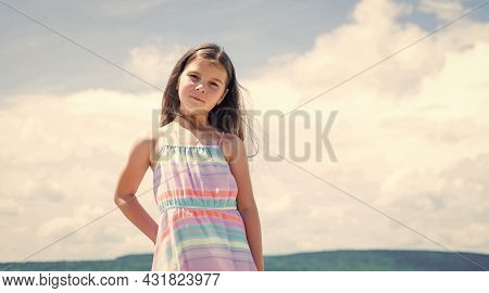 Cheerful And Carefree. Fashion And Beauty. Smiling Child With Cheerful Look. Childhood Happiness. Pr