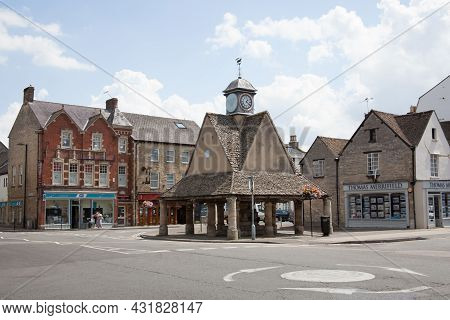 Views Of The Witney Clock Tower And Witney Town Council Buildings At Buttercross In Witney, Oxfordsh