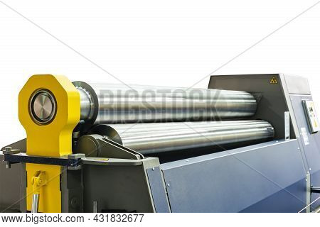 Roller Of Automatic Cnc Metal Sheet Roll Bender Machine For Steel Or Stainless Sheet Plate Etc. Bend
