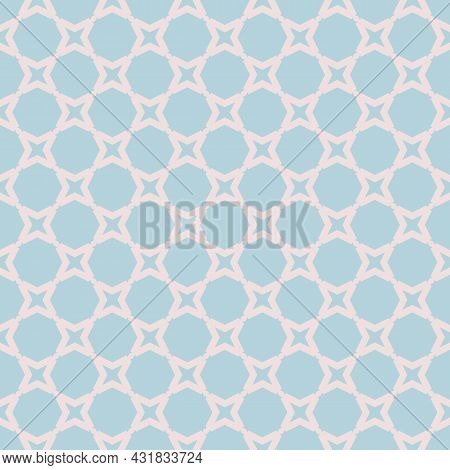 Vector Abstract Geometric Seamless Pattern. Simple Ornament With Small Net, Grid, Lattice, Mesh, Geo