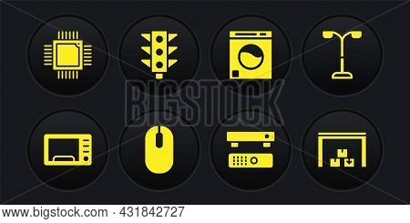 Set Microwave Oven, Street Light, Computer Mouse, Multimedia And Tv Box, Washer, Traffic, Warehouse