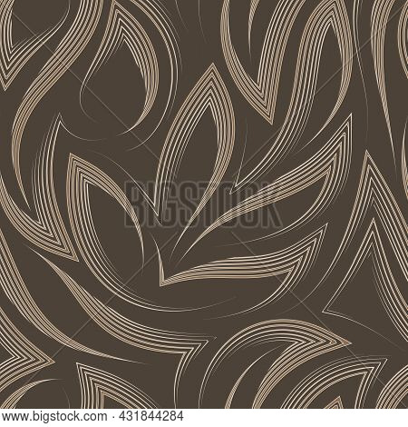 Vector Seamless Pattern In Pastel Colors From Corners And Flowing Stripes With Torn Edges.vector Sea