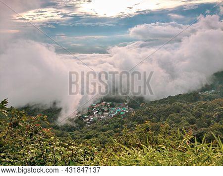 Fog On Doi Suthep Mountain In Chiang Mai,thailand