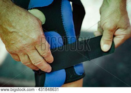 Protective Bandage Against Leg Sprains.protective Bandage Against Leg Sprains