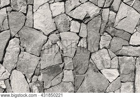 Grunge Brick Wall. Texture Of Old Rock Wall For Background. Stone Wall As A Background Or Texture.