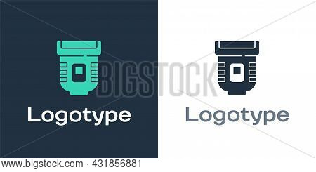 Logotype Epilator Icon Isolated On White Background. Depilation By Electric Razor. Hair Removal On T