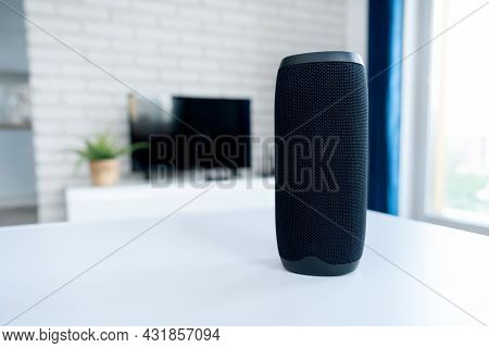 Intelligent Assistant, Smart Speaker Device. Smart Home Concept