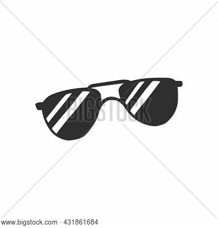 Hand Drawn Sunglasses. Doodle Sketch Style. Drawing Line Simple Sunglasses Icon. Isolated Vector Ill