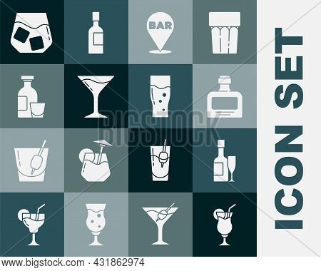 Set Cocktail, Champagne Bottle And Glass, Whiskey, Alcohol Bar Location, Martini, Drink Rum, Glass O