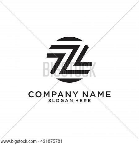 Letter Z Or Zz Monogram Logo Design Vector On White Background.