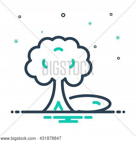 Mix Icon For Shade Shadow Coolness Tree Reflection  Umbrage Cast-a-shadow-over