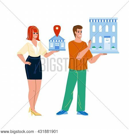 Small And Medium Enterprise Businesspeople Vector. Sme Enterprise Entrepreneurs Businessman And Busi