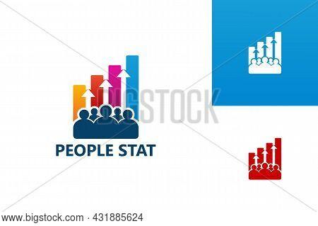 People Statistic Logo Template Design Vector, Emblem, Design Concept, Creative Symbol, Icon