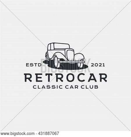 Vintage Retro Car Logo Design. Vintage Or Classic Or Retro Style
