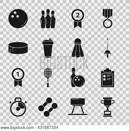 Set Award Cup, Sport Training Program, Fencing, Medal, Fitness Shaker, Hockey Puck, Bowling Ball And