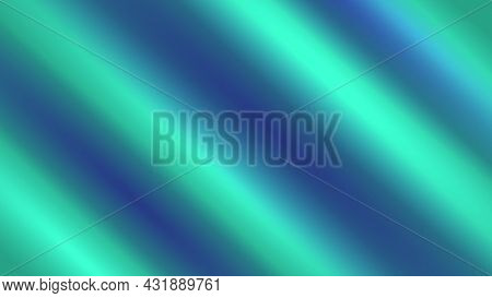 Abstract Blue-green Background With Waves. Color Abstraction. Neon Color Style. Modern Design Backdr