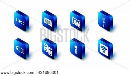 Set Music Synthesizer, Postal Stamp, Kitchen Whisk, Wi-fi Wireless Internet Network, Joystick For Ar