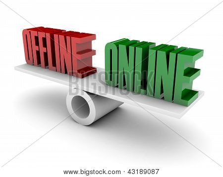Offline and Online opposition.