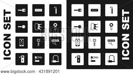 Set Crowbar, Bunch Of Keys, Key, Wrong, Password Protection, And Mobile And Graphic Password Icon. V