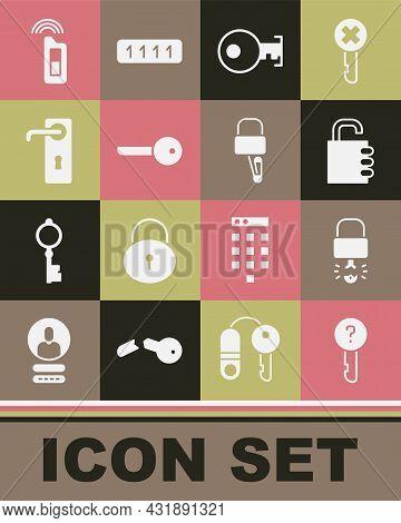 Set Undefined Key, Key Broke Inside Of Padlock, Safe Combination, Door Handle, Car With Remote And L