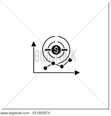 Economy Expansion Glyph Icon. Increase In Economic Level Activity.economical Fluctuation. Business C
