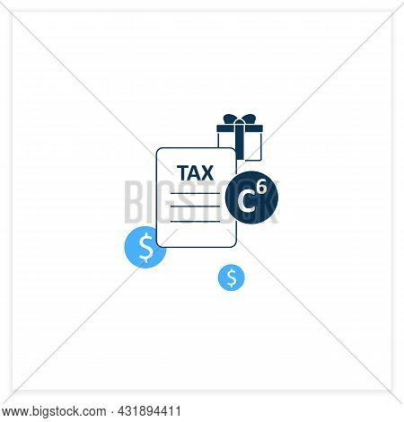 Carbon Tax Flat Icon. Tax Levied On Carbon Goods And Services. Economically Profitable. Declaration.