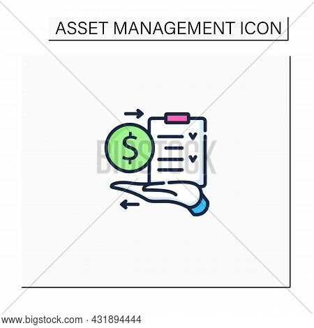Amp Color Icon.assets Management Plan.tactical Managing Plan On Hand. Instruction. Business Concept.