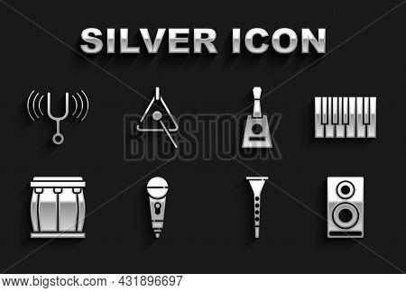 Set Microphone, Grand Piano, Stereo Speaker, Clarinet, Drum, Balalaika, Musical Tuning Fork And Tria