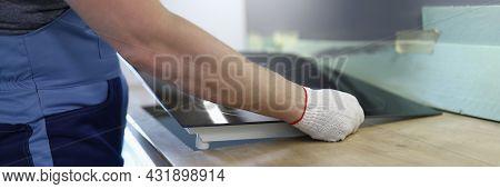Master Installs Electric Hob On Kitchen Cabinet