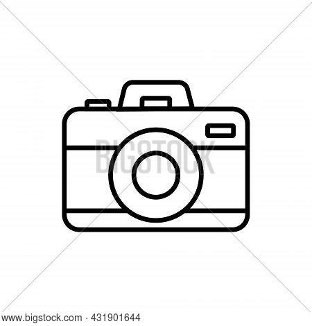 Camera Icon. Photo Line Vector Icons Minimalistic Flat Design.