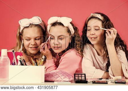 Beautiful Female. Friendship And Sisterhood. Family Bonding Time. Childhood Happiness. Retro Kids Pu