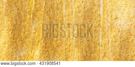 Golden Shiny Foil Background. Abstract Grunge Gold Marble Texture. Trendy Paint With Glitter. Smooth