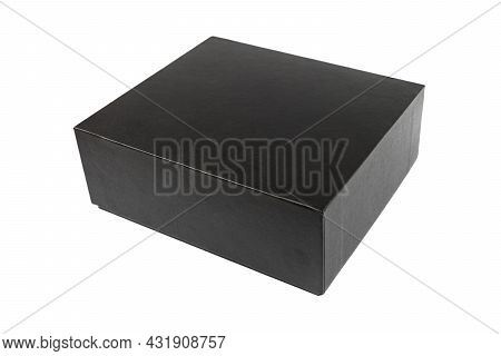 Cardboard Box Isolated On White Background. Cardboard Box Isolated. Package Box With Clipping Path.