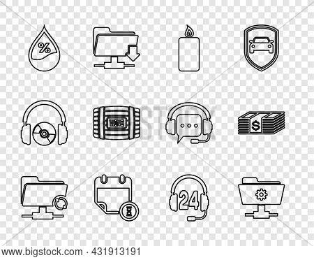 Set Line Ftp Sync Refresh, Settings Folder, Burning Candle, Calendar Clock, Water Drop Percentage, W