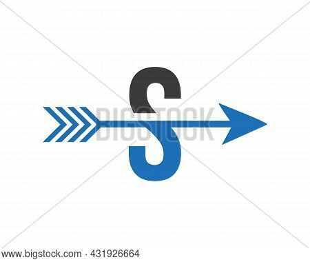 Financial Logo With S Letter Upward Arrow Concept. Initial S Letter Financial Marketing, Business An