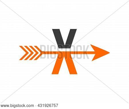 Financial Logo With X Letter Upward Arrow Concept. Initial X Letter Financial Marketing, Business An