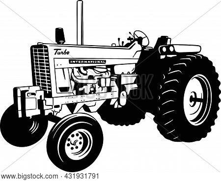 Tractor - Farm Tractor, Farming Vehicle - Farming Vehicle Stencil