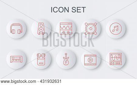 Set Line Oscilloscope, Music Synthesizer, Online Play Video, Headphones, Stereo Speaker, Air Headpho