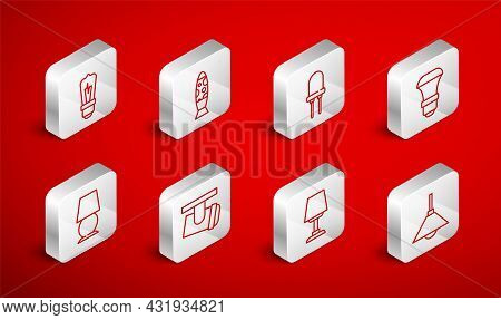 Set Line Lamp Hanging, Floor Lamp, Light Emitting Diode, Led Light Bulb, Table, Led Track Lights And