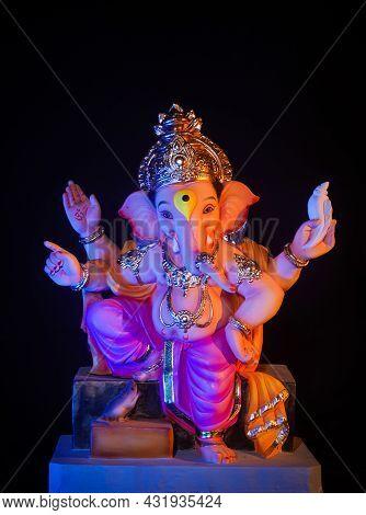 Lord Ganesha, Ganesh Festival With Black Background