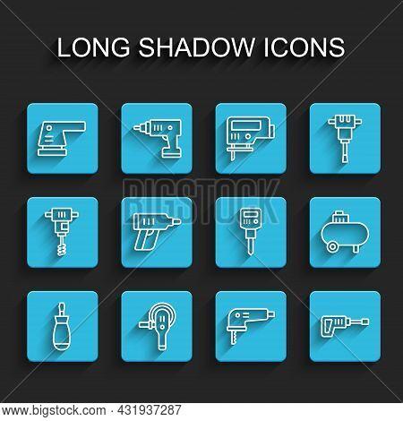 Set Line Screwdriver, Angle Grinder, Electric Sander, Jigsaw, Rotary Hammer Drill Machine, Cordless